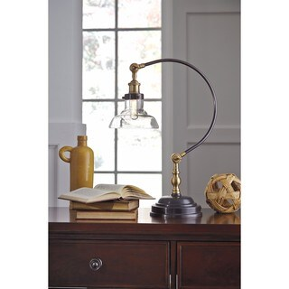 Asahavey Antique Bronze Finish 24 Inch Metal Desk Lamp