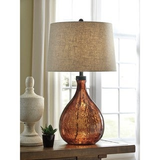 Signature Design by Ashley Arayna Brown Glass Table Lamp