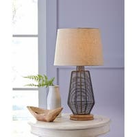 Signature Design by Ashley Artie Natural Metal Table Lamp