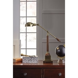 Signature Design by Ashley Jabrar Brown Finish Metal Desk Lamp