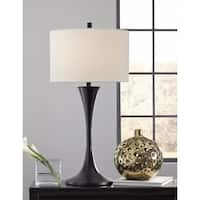 Luna Table Lamp With Bronze Finish Steel Base Free