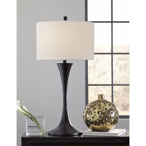 Signature Design by Ashley Joakim Black Metal Table Lamp
