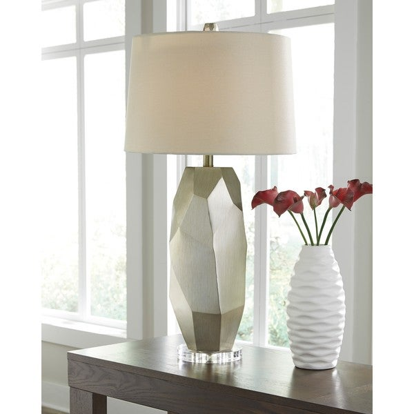 Darda Silver 32 Inch Poly Table Lamp