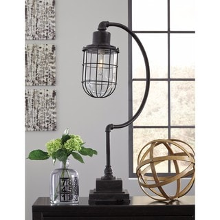 Signature Design by Ashley Jae Antique Black Metal Desk Lamp