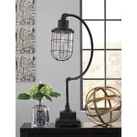 Jae Antique Black 33 Inch Metal Desk Lamp