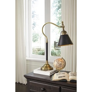 Arvid Black Finish 26 Inch Metal Desk Lamp