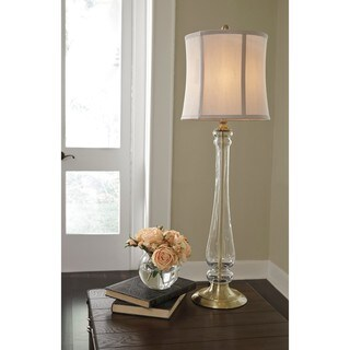 Signature Design by Ashley Ardice Brass Finish Glass Table Lamp