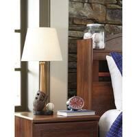 Signature Design by Ashley Avidan Brown/Cream Poly Table Lamp