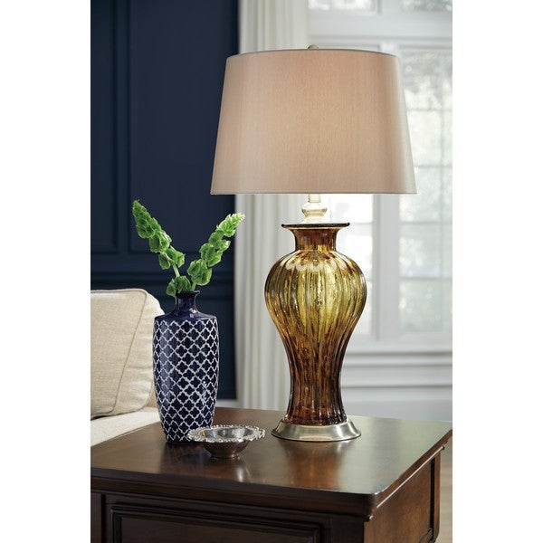 Signature Design by Ashley Ardal Amber Glass Table Lamp