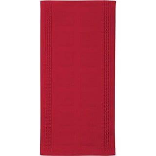Gourmet Classics 02692rd Red Bamboo-derived Rayon And Cotton Jacquard Kitchen  Towel