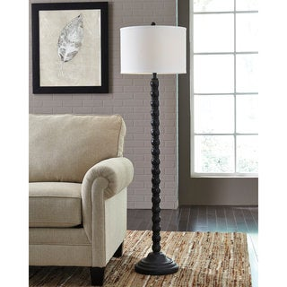 Signature Design by Ashley Shellany Antique Black Poly Floor Lamp