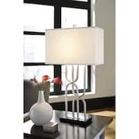 Darielle Silver Finish 30 Inch Metal Table Lamp