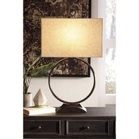 Signature Design by Ashley Fayth Bronze Finish Metal Table Lamp