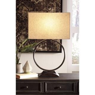 Signature Design by Ashley Fayth Bronze Finish Metal Table Lamp