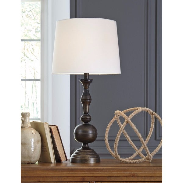 Aadi Antique Brass Finish 29 Inch Metal Table Lamp Set of 2