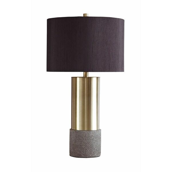 Jacek Gray/Brass Finish 28 Inch Metal Table Lamps - Set of 2