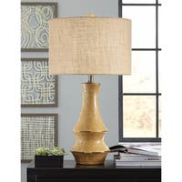 Jenci Antique Yellow 30 Inch Ceramic Table Lamp