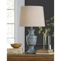 Jehoram Blue 28 Inch Metal Table Lamp