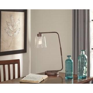 Signature Design by Ashley Kyron Bronze Finish Metal Desk Lamp