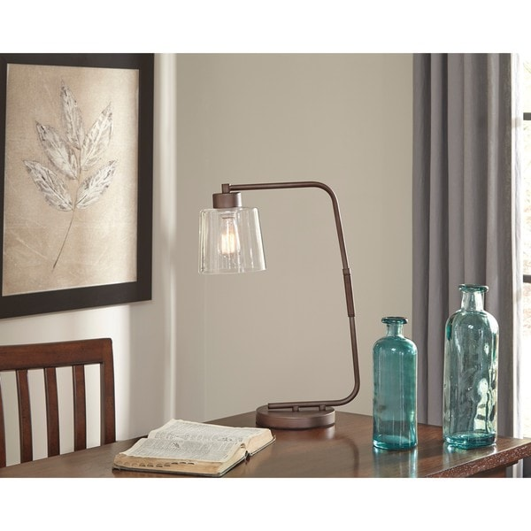 Signature Design by Ashley Kyron Bronze Finish Metal Desk Lamp