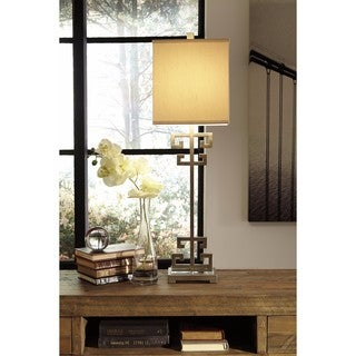 Signature Design by Ashley Jackin Gold Finish Metal Table Lamp