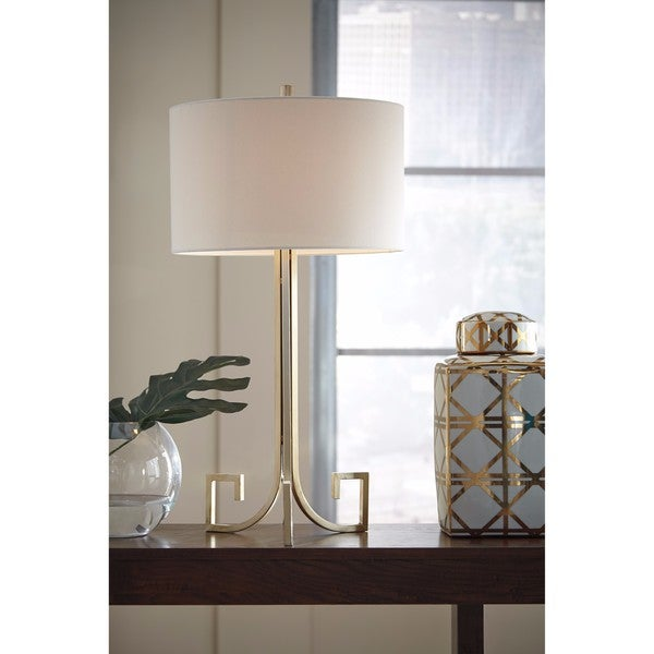 Signature Design by Ashley Jankin Antique Gold Finish Metal Table Lamp