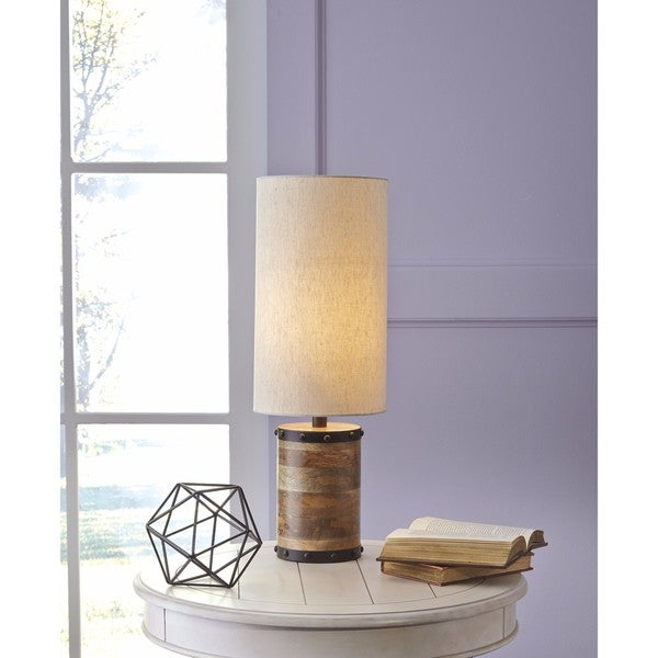 Signature Design by Ashley Ian Natural Wood Table Lamp