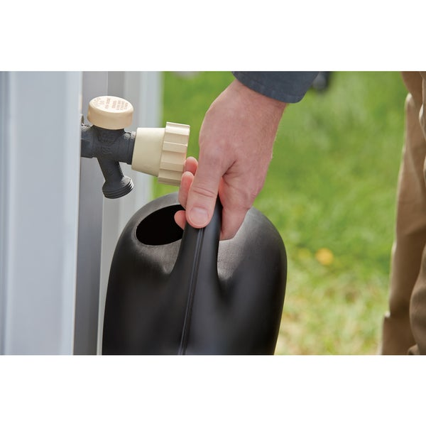 Black. 1.6 Gallon Bloem Easy Pour Watering Can