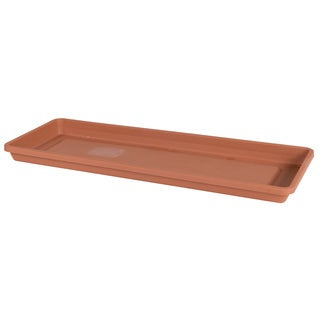 Bloem Terra Cotta Plastic 30-inch Window Box Tray