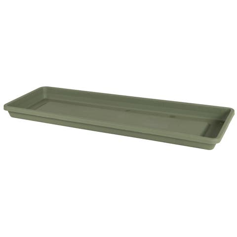 Bloem Terra Living Green Resin 18-inch Window Box Tray