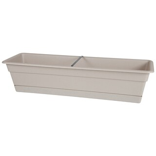Bloem Dura Cotta Taupe 30-inch Window Box Planter