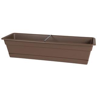 Bloem Dura Cotta Chocolate Brown Plastic 24-inch Window Box Planter