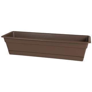 Bloem Dura Cotta Chocolate Plastic 18-inch Window Box Planter