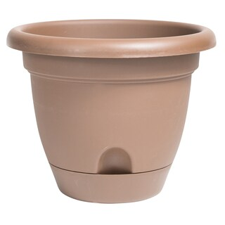 Bloem Lucca Chocolate 10-inch Self-watering Planter
