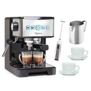 Capresso 124.01 Ultima PRO Programmable Espresso & Cappuccino Maker Bundle (Refurbished)