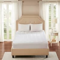 Smart Cool by Sleep Philosophy Microfiber White Coolmax Mattress Pad