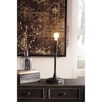 Signature Design by Ashley Javan Antique Black Metal Table Lamp
