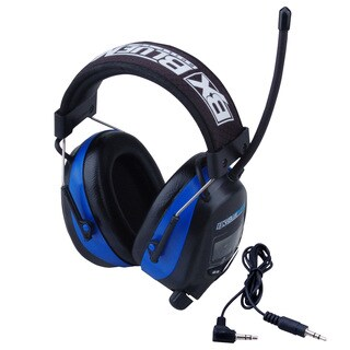 Blue Max Digital Protective Headphones Earmuffs with AM/FM Stereo Display