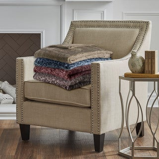 Serta Heather Plush Throw