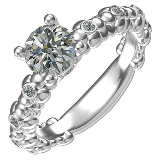 Sterling Silver 1 1/10ct Cubic Zirconia Fashion Ring