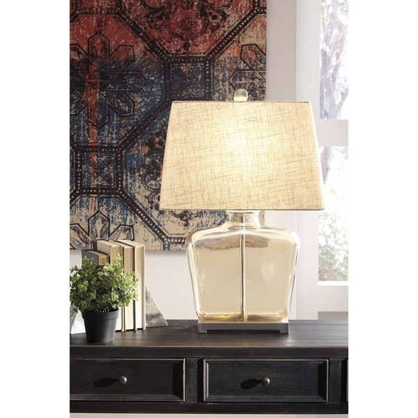Janae Champagne 26 Inch Glass Table Lamp