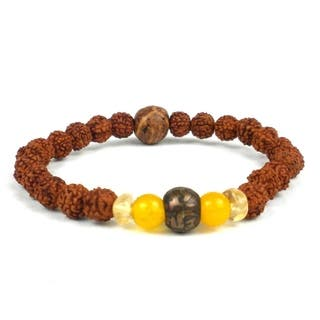 Handmade Padme Hum Wrist Mala Bracelet - Global Groove (Thailand)|https://ak1.ostkcdn.com/images/products/14206933/P20801109.jpg?impolicy=medium