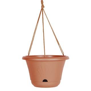 Bloem Lucca Terra Cotta 13-inch Self-watering Hanging Basket