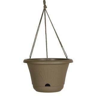 Bloem Lucca Peppercorn Plastic 13-inch Self-Watering Hanging Basket