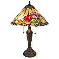 Amora Lighting AM240TL16 Tiffany Style Floral Table Lamp 24 Inches Tall
