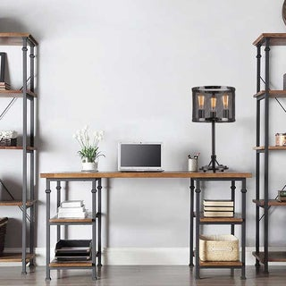 Furolee Black Rounded Mesh Table Lamp