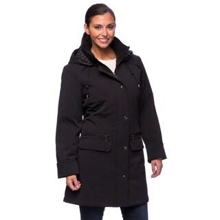 Nuage Women's Black Walker Coat Large Size in Black (As Is Item)