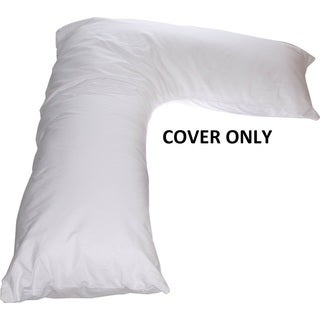 Boomerang V Side Sleeper White Pillow (Replacement Cover Only) (As Is Item)
