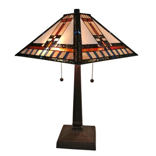 Amora Lighting AM236TL14 Tiffany-style Mission Table Lamp