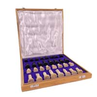 Case of 2 Soapstone Chess Sets (India) - Black